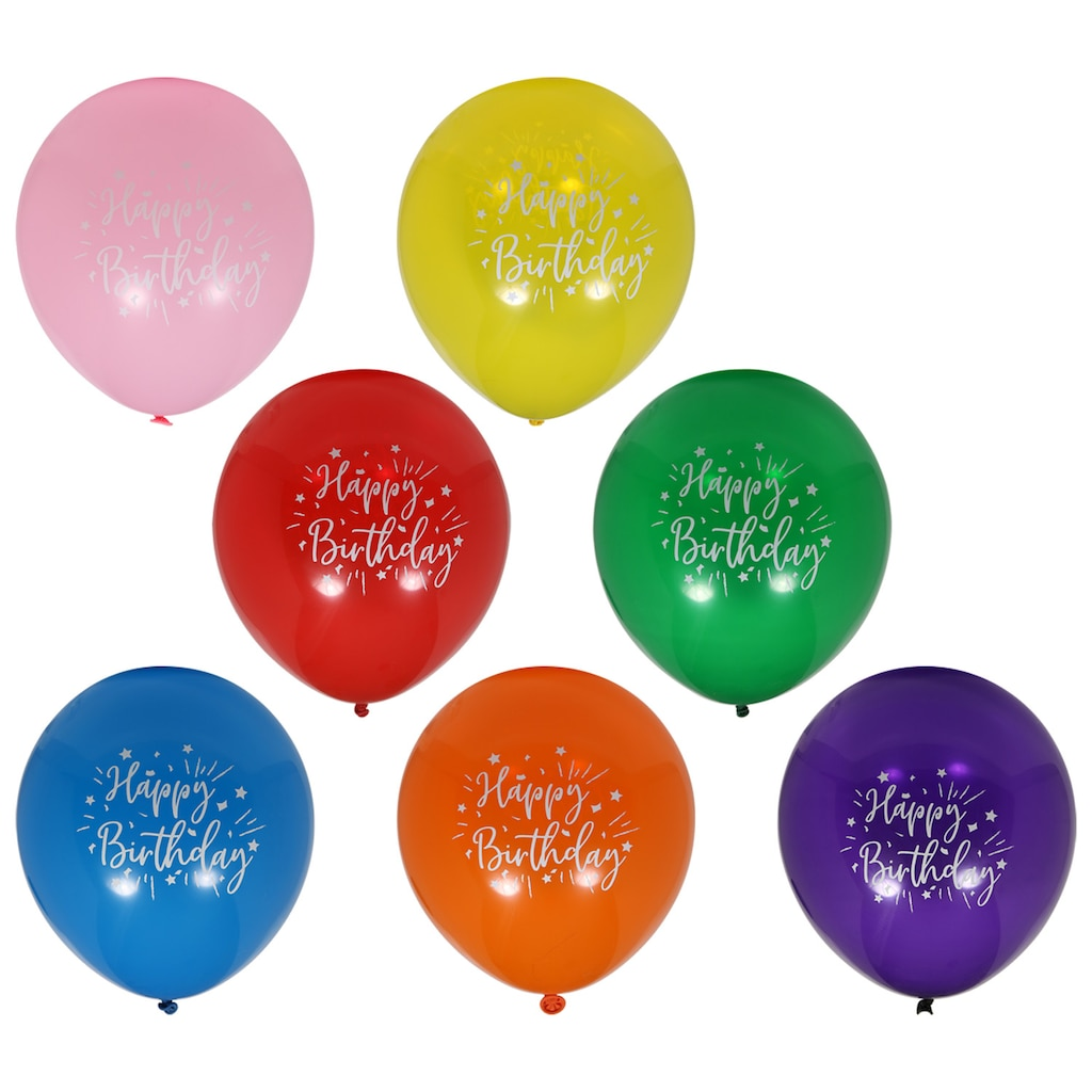 Happy Birthday Latex Balloons 12 Ct
