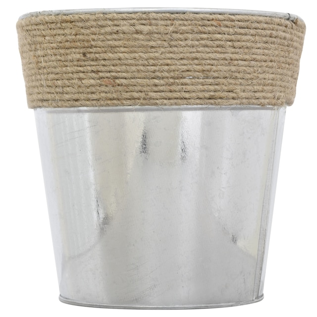 Dollartree Bulk Metal Bucket Vases With Rope Accents 55 In