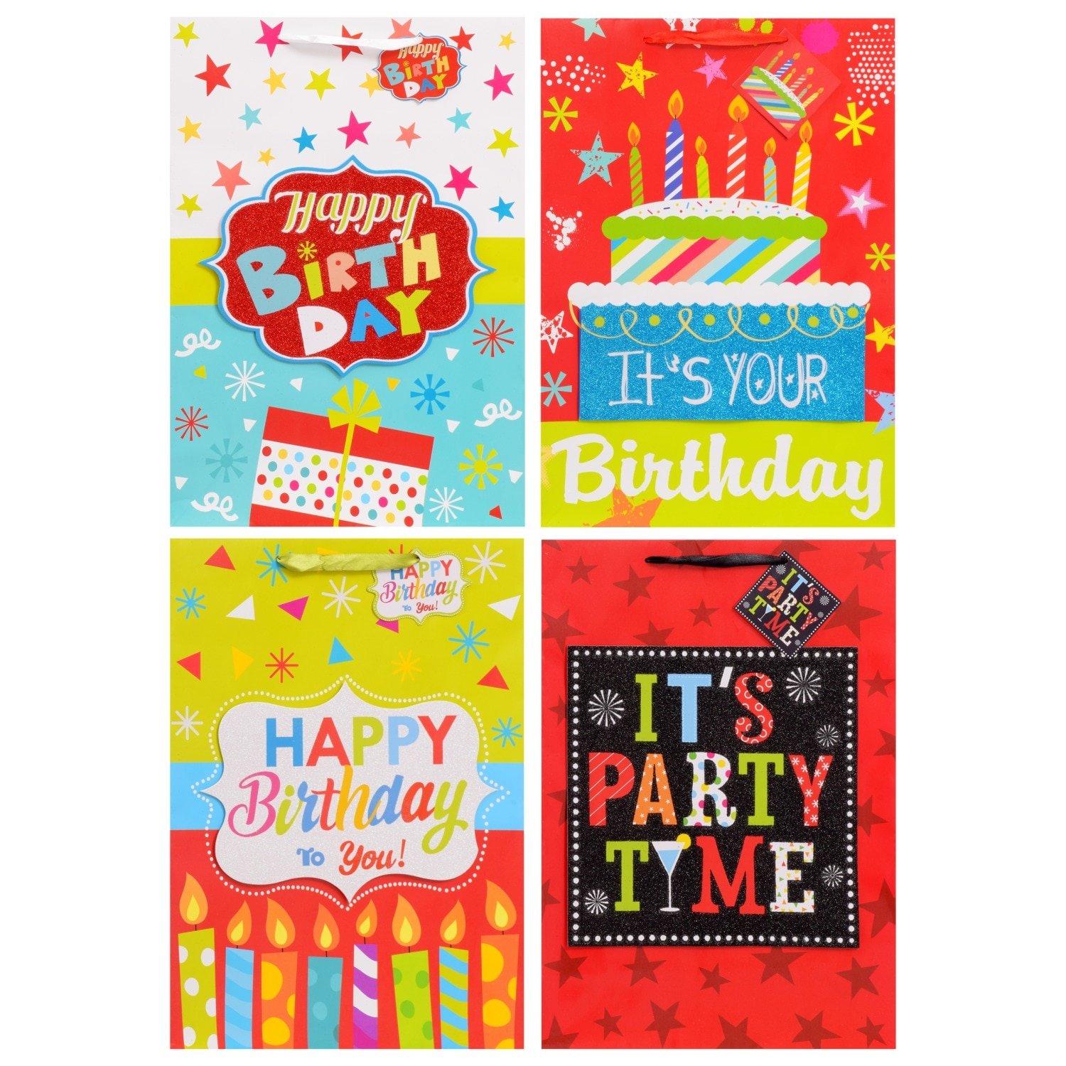 Extra Large Whimsical Birthday Gift Bags