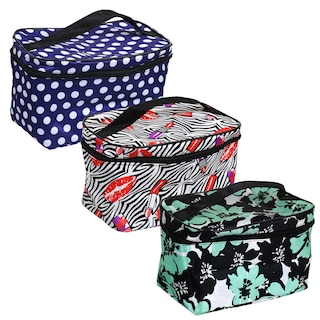 e968f76c5819 Sassy+Chic Fashion Printed Cosmetic Bags with Straps