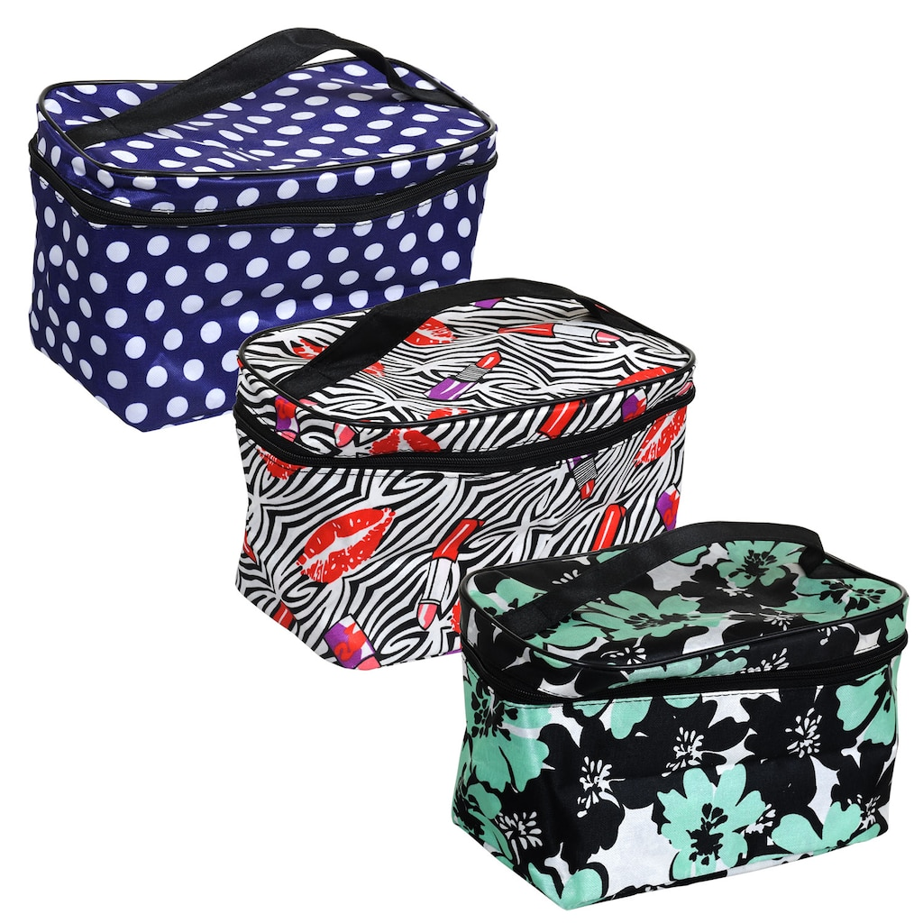 Sassy+Chic Fashion Printed Cosmetic Bags with Straps fe293550f2821