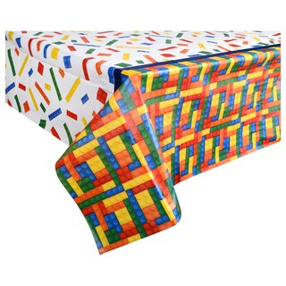 View Building Blocks Party Plastic Table