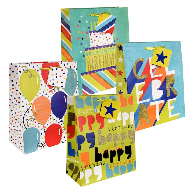 Large Whimsical Birthday Gift Bags