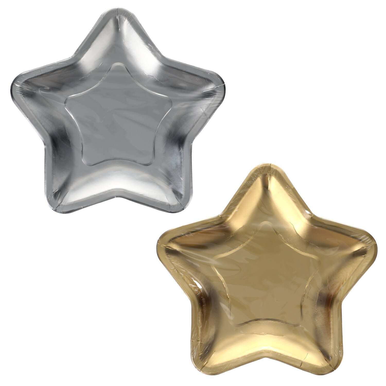 218347 Star Shaped Paper Party Plates 12 Ct Packs New Badge