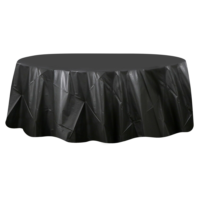 Dollartree Com Bulk Bulk Round Black Plastic Table Covers 84 In