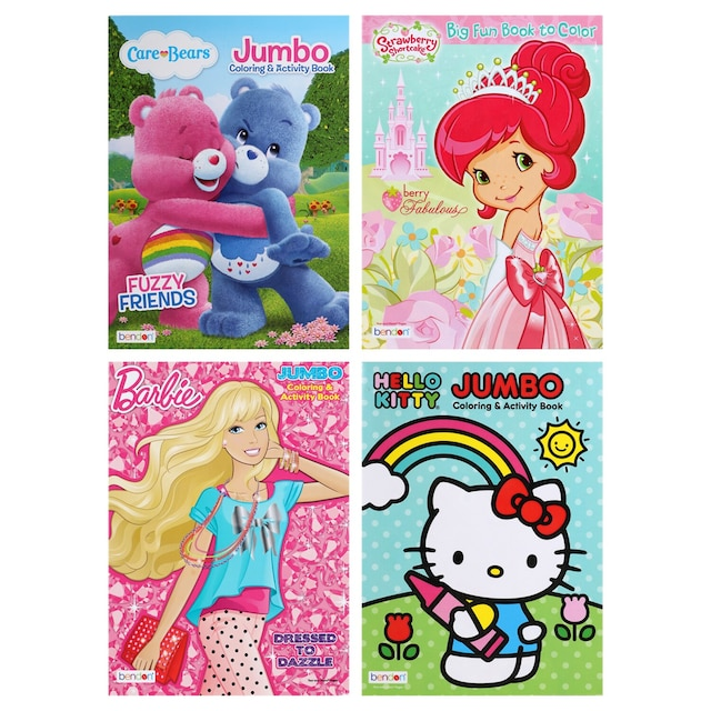 Licensed Girls\' 96-pg. Jumbo Activity and Coloring Books