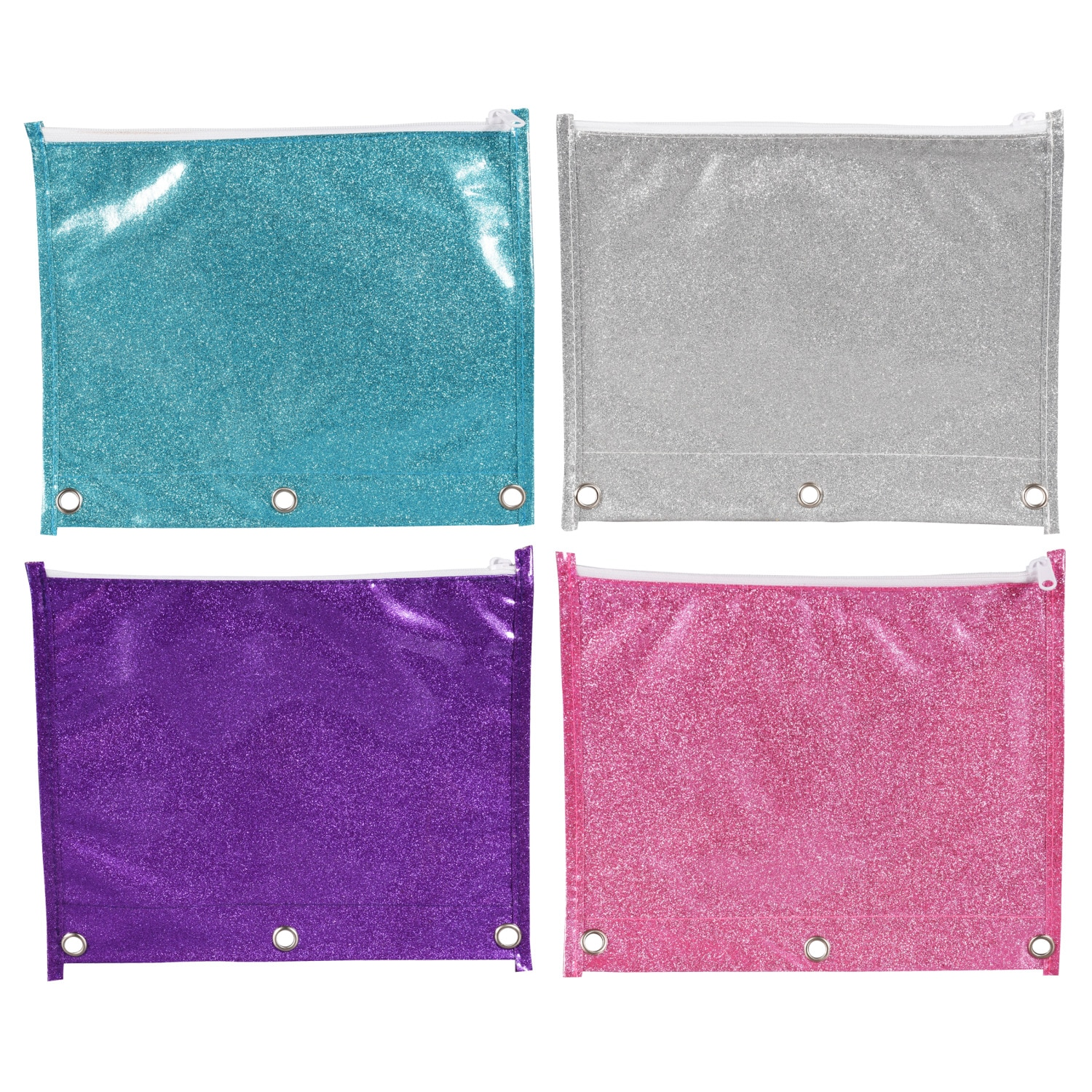 View Jot Glitter Pencil Pouches, 7.5x9.5