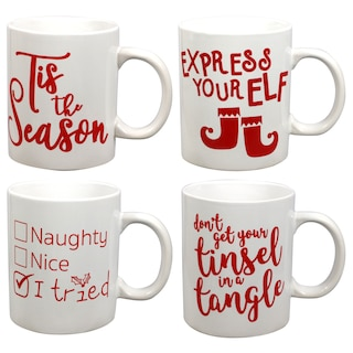 259144 holiday themed novelty stoneware coffee mugs 16 oz