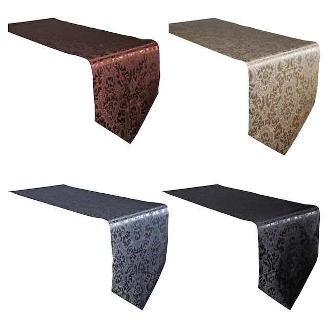 View Home Collection Polyester Damask Table