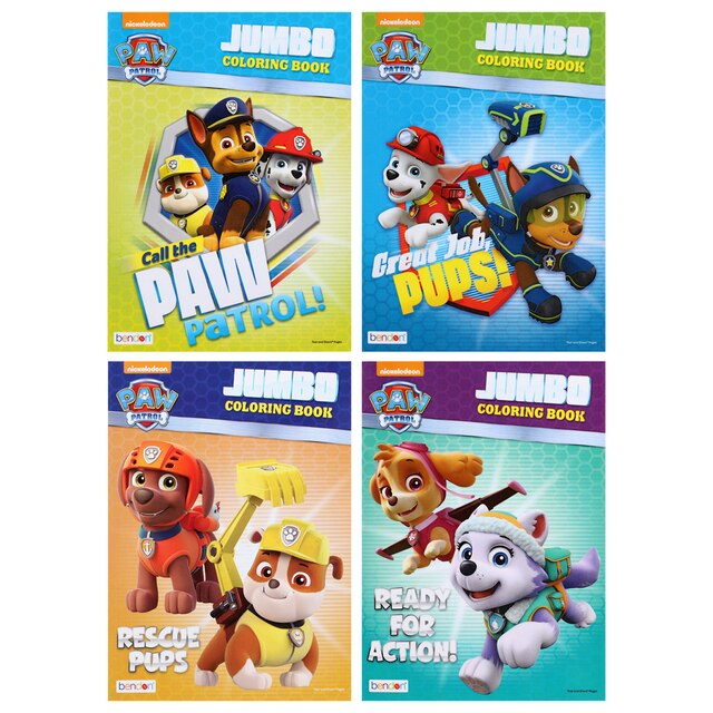 Dollartree Com Bulk Paw Patrol 96 Pg Jumbo Coloring Books