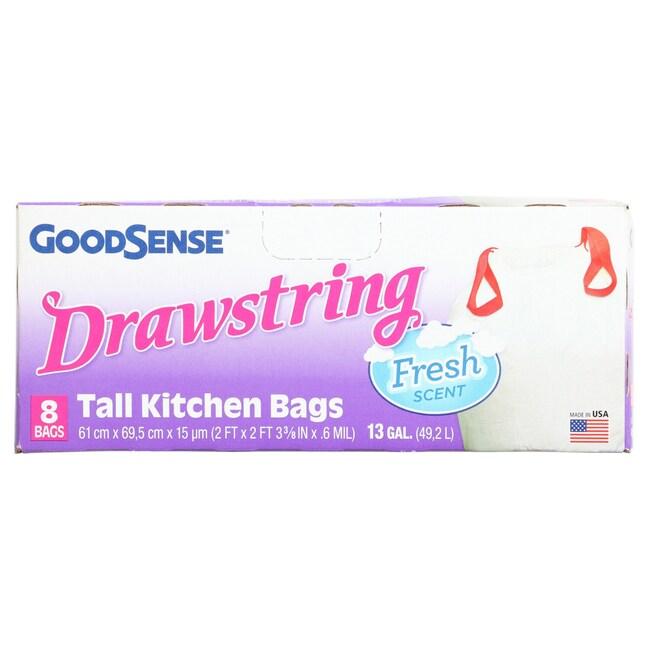 Goodsense 13 Gallon Fresh Scent Tall Kitchen Trash Bags 8 Ct Packs