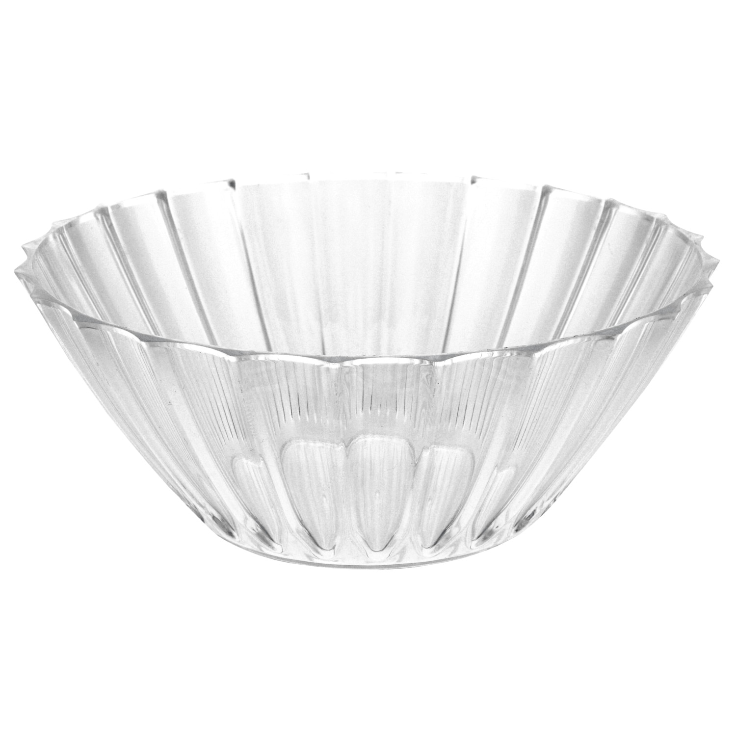 Clear Plastic Fluted Serving Bowls 8