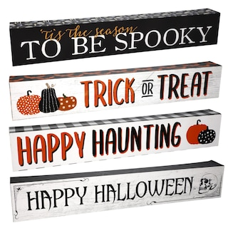 Halloween Decorative Signs 12x2x1 25 in