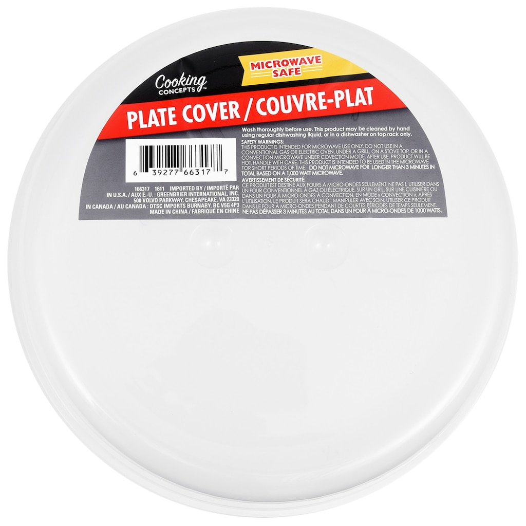 Cooking Concepts Plastic Microwave Plate Covers 10
