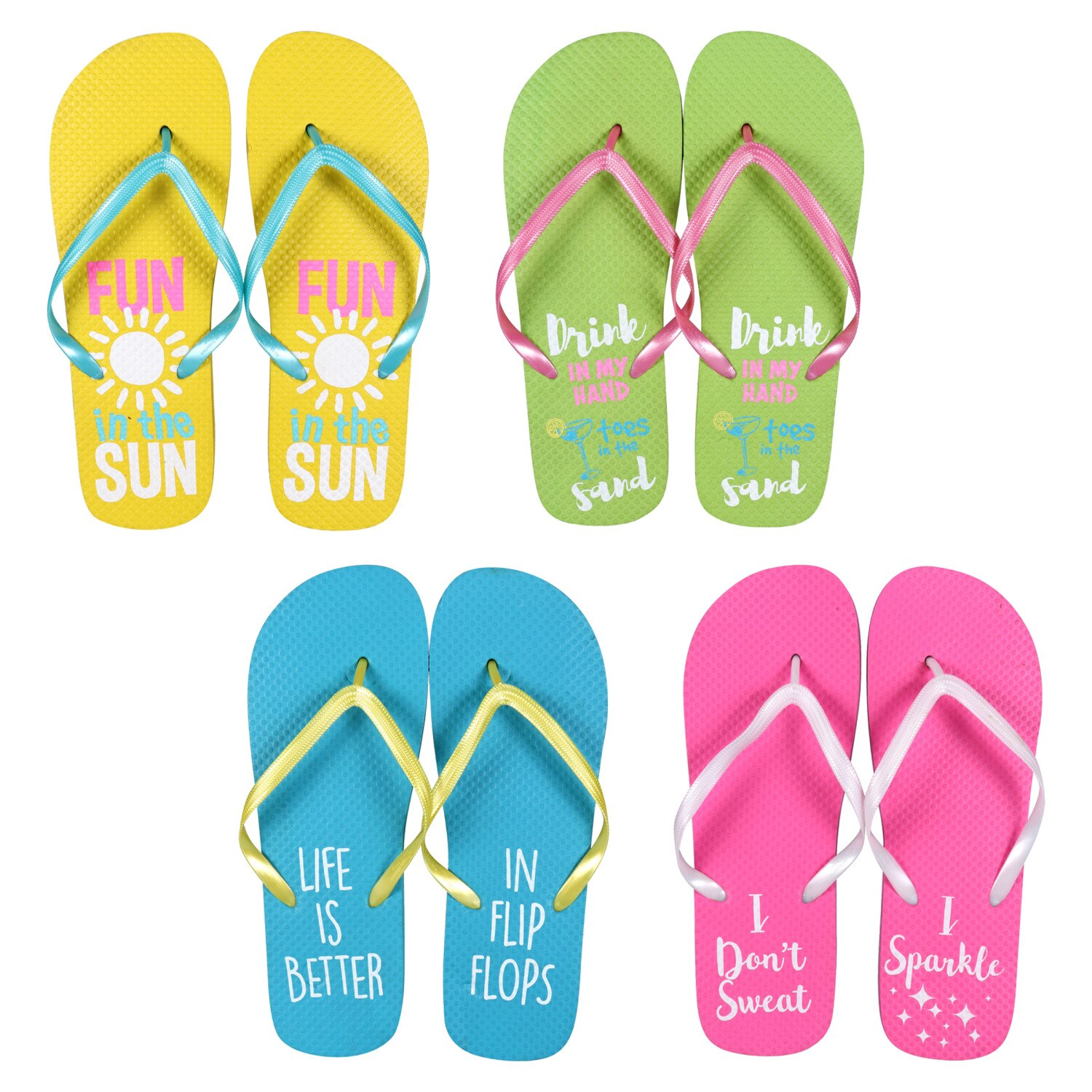 46d5d3613ff3 Women s Sentiment Rubber Flip-Flops