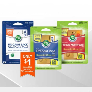 green dot reloadable prepaid cards - Reloadable Prepaid Cards