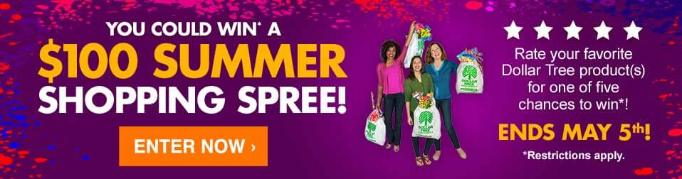 DollarTree com | Ratings & Reviews Contest Rules