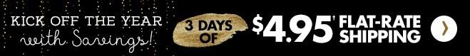 3 días de envío con tarifa fija de $4.95