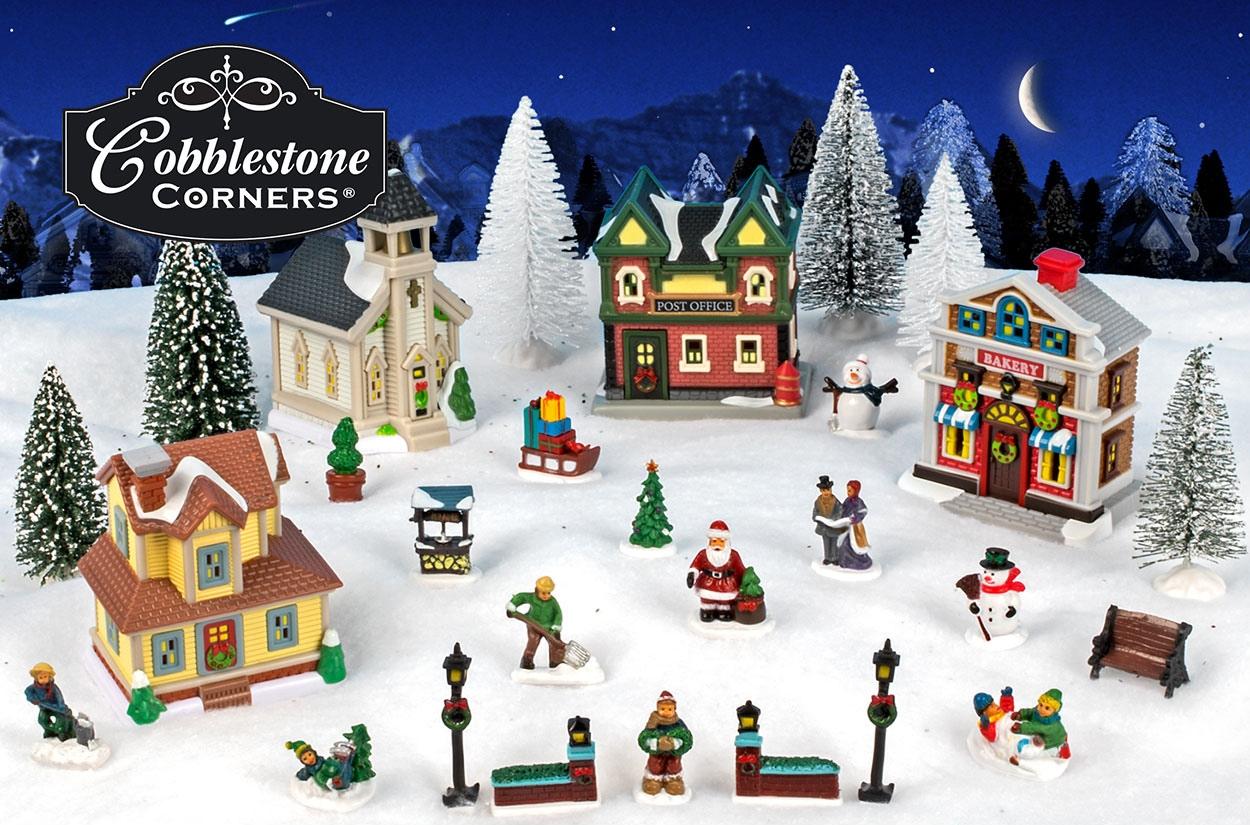 Cobblestone Corners Christmas Village 2020 Cobblestone Corners | DollarTree.com
