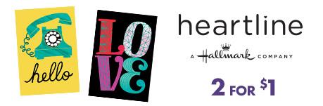 heartline - A Hallmark Company: $1 each.