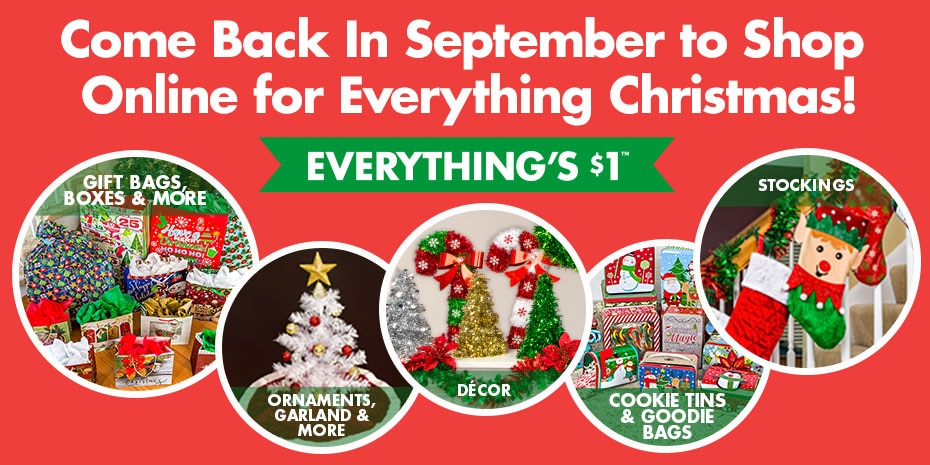 Dollartree christmas cards come back in september to shop online for everything christmas m4hsunfo