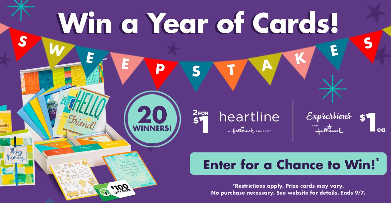 Win a Year of Cards Sweepstakes!