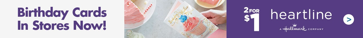 Shop 2 For 1 Hallmark Birthday Cards In Stores Now