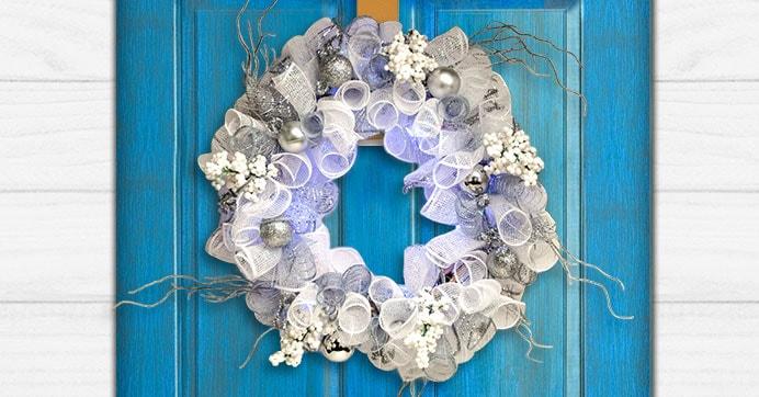 Simply Winter Deco Mesh Wreath