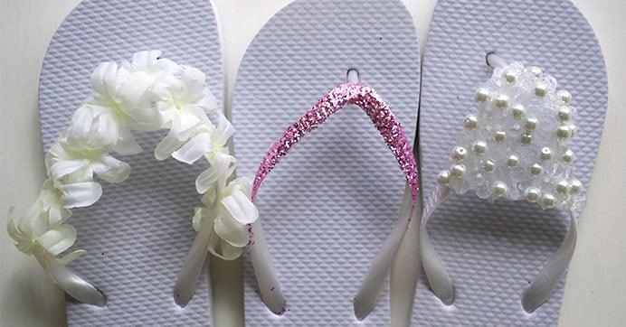 White Flip-Flops | Dollar Tree